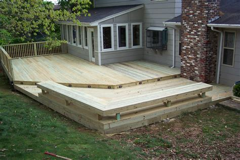 deck with built in seating tennessee deck builders