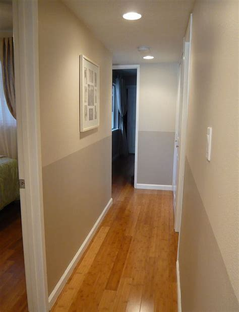 hallway colors two tone hallway olympic paint colors gray beige and