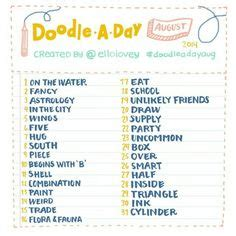 doodle list of creations 1000 images about doodle a day lists on