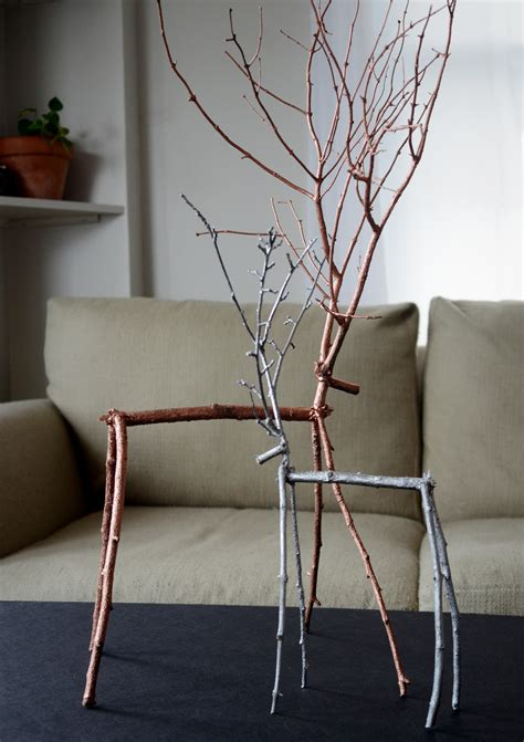 how to make easy diy metallic twig reindeer easy
