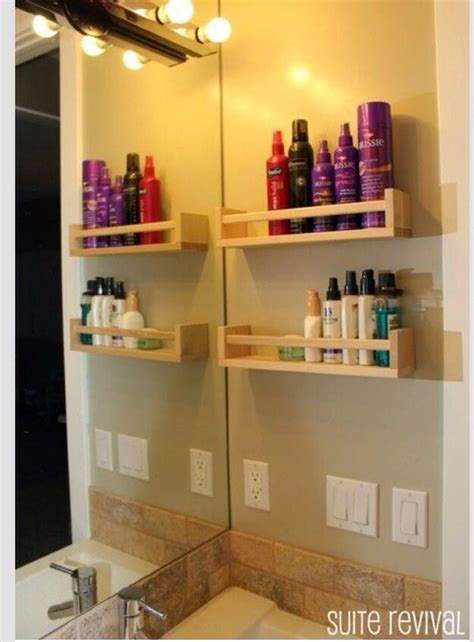 how to attach ikea spice rack to wall organize using ikea spice rack bathroom ideas pinterest