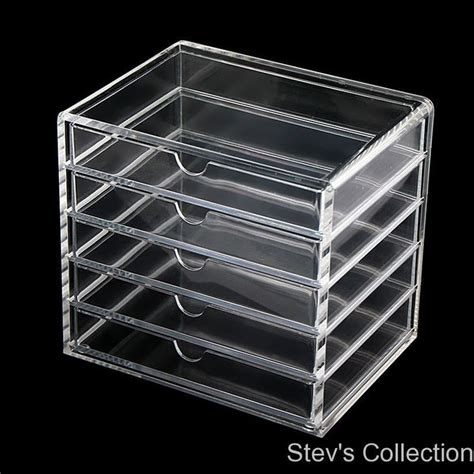 5 Drawer Acrylic Storage by Muji Acrylic Multipurpose Makeup Organizer 5 Drawers