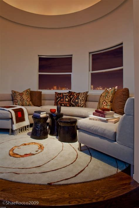 round rugs for living room guerrero st eclectic living room san francisco round