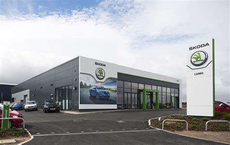 skoda car showroom skoda corporate identity for new 163 1 5m carrs