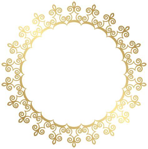 Round Gold Border Frame Transparent Clip Art Image
