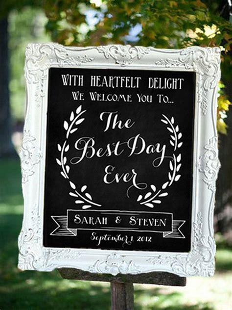 Wedding Chalkboard The Best Day Ever by SarahSaysSew on