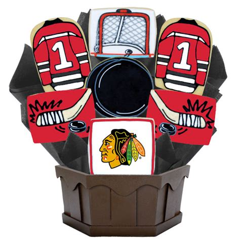 nhl chicago blackhawks cookie bouquet cookies by design