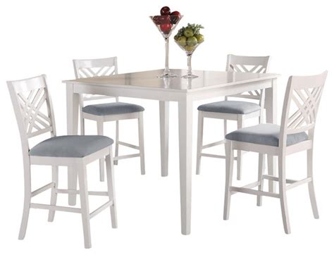 Standard Furniture Brooklyn White Square Counter Height Standard Height Of Dining Table And Chairs