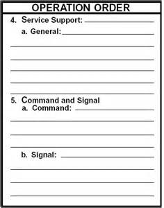 plan operation order opord armystudyguide com