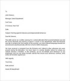 Labour Warning Letter Template Warning Letter 8 Free For Word