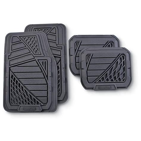 4 pc goodyear 174 heavy duty rubber floor mats 129067