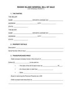 bill of sale template ri free rhode island general bill of sale form word pdf