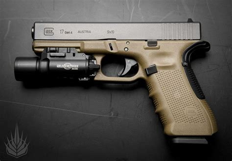 glock 17 tactical light glock 17 4 w beavertail grip and surefire tac light
