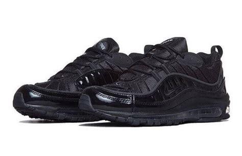 supreme x nike air max 98 black the sole supplier