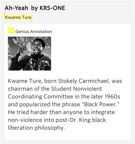 born genius meaning kwame ture ah yeah by krs one