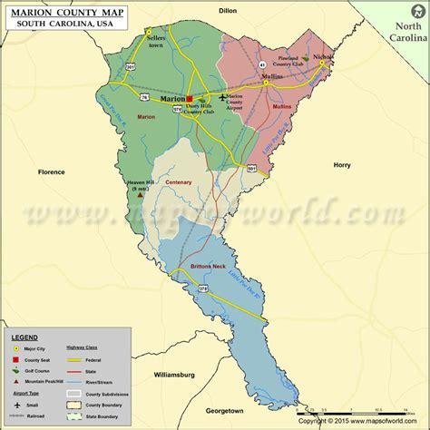 map of carolina usa marion county map south carolina
