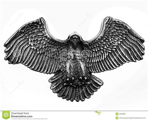 shinny old metal eagle symbol stock photography image
