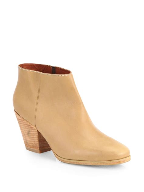 comey boots comey mars leather ankle boots in beige camel lyst
