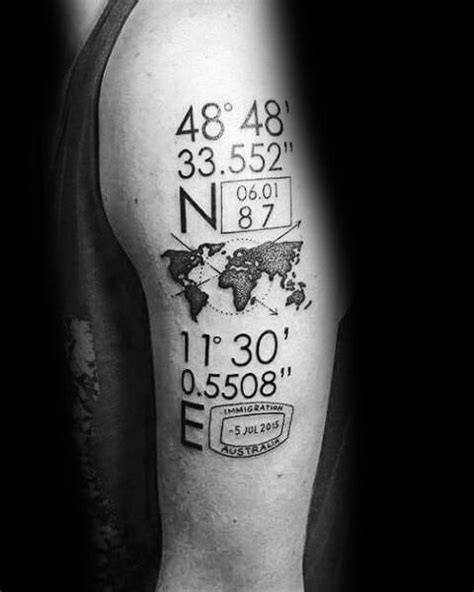 geography tattoos 50 coordinate ideas for geographic landmark
