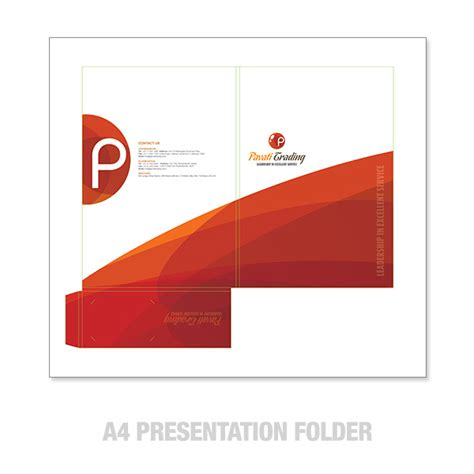 A4 Presentation Folders Design And Printing A4 Presentation Folder Template