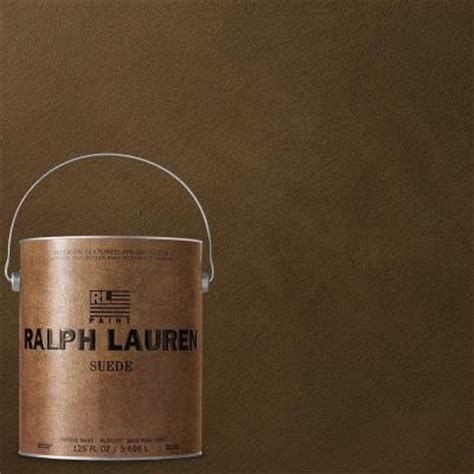ralph 1 gal verde plaza suede specialty finish interior paint su116 the home depot