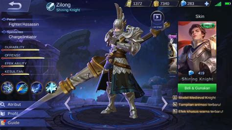 codashop games hadirkan skin ala medieval knight zilong di mobile