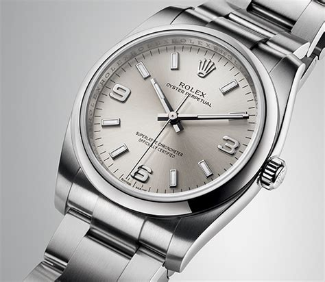 Rolex Oyster White Silver a rolex oyster perpetual 34 with silver combining