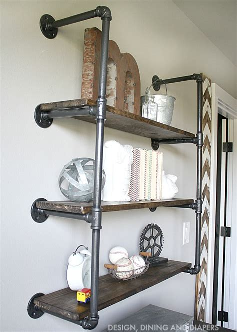 Black Plumbing by Industrial Piping Shelves Industrial Shelves And Pipes