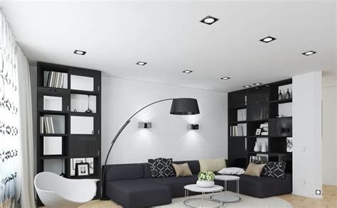 modern black bookshelf designs for small living room img28