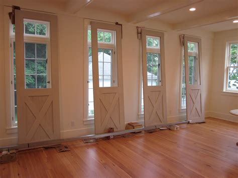 Interior Glass Barn Doors Wondrous Half Glass Interior Barn Doors For Homes With X Cross Panels As Well As Ceiling Ls