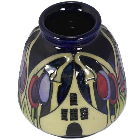 Faberge Crystal Vase Moorcroft The Hamlet Vase 198 3 Moorcroft From Griffin
