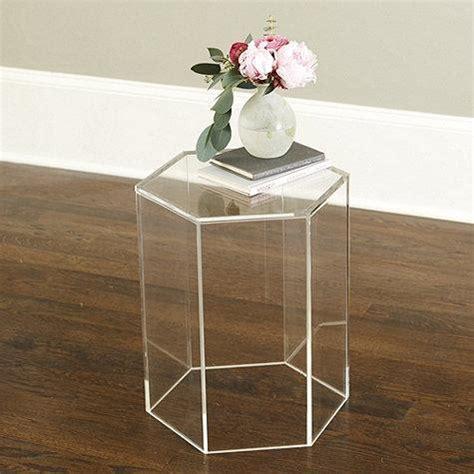 clear acrylic side table acrylic hexagon side table