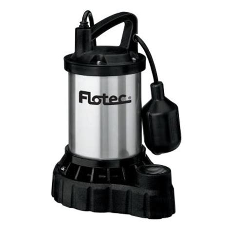 flotec 1 3 hp submersible cast iron stainless steel