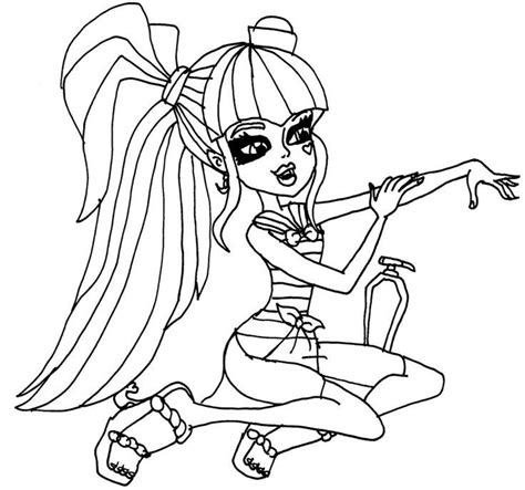 draculaura and clawd monster high coloring color zini draculaura coloring page coloring home