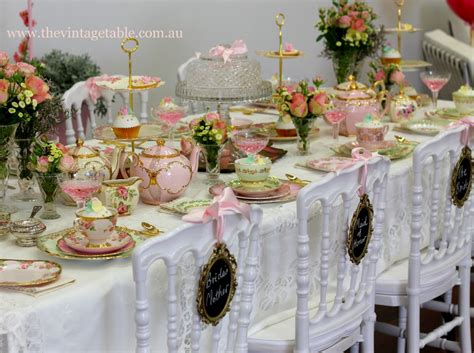formal christmas tea the vintage table vintage china hire events media