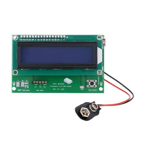 resistor value for lcd backlight multi functional transistor tester lcd backlight didoe triode capacitance resistor esr meter