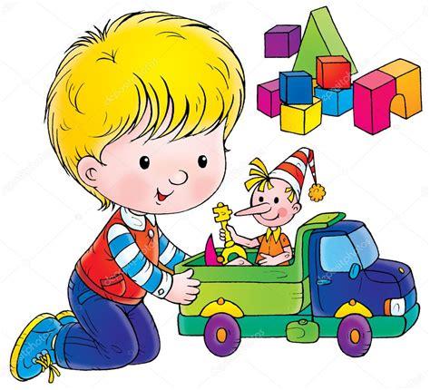 imagenes de niños jugando con sus juguetes ni 241 o jugando con una mu 241 eca en un cami 243 n de juguete foto