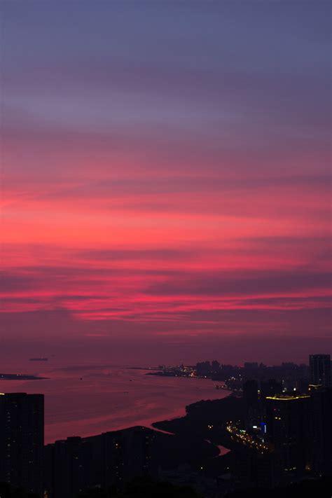 05 Set Sunset Pink Muda city sunset via image 2288154 by ksenia l on favim