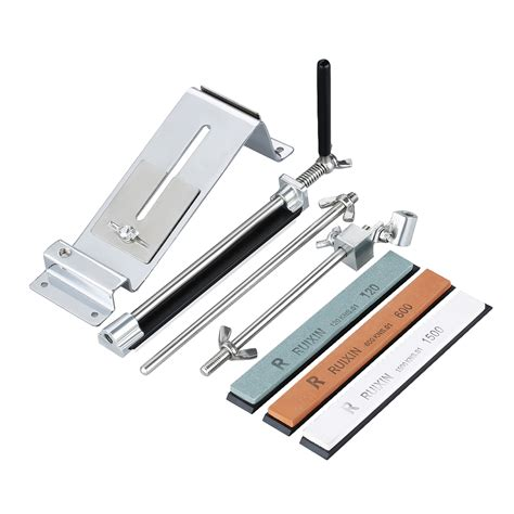 sharpening angle for kitchen knives ruixin 3rd kitchen knife sharpener sharpening system fix angle 4 stones tool ebay