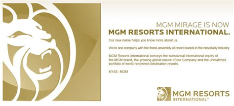 mgm resorts international announces board of directors for it s official mgm mirage is now mgm resorts international