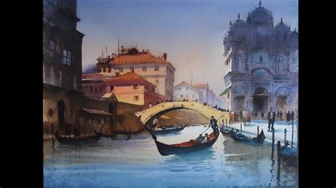 Painting Hiring by Watercolour Landscape Painting Of Venice 2