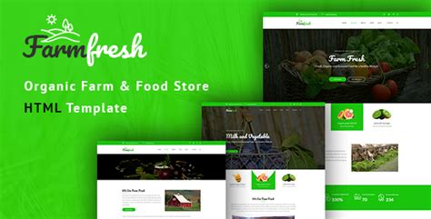Farm Fresh Grocery Store Application Html Website Templates From Themeforest Nulled