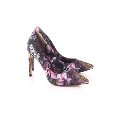 ted baker shoes ted baker neevo shadow floral court shoes blueberries