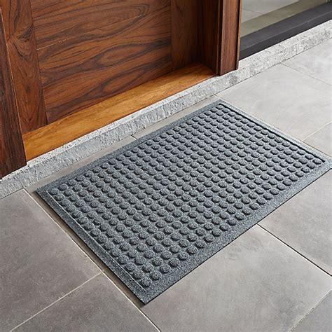 Gray Doormat thirsty dots grey doormat crate and barrel