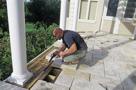 Stone Paver Deck   Professional Deck Builder   Finishes