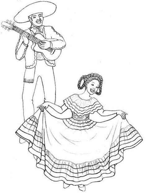 mexican girl coloring page ballet girl coloring page alltoys for