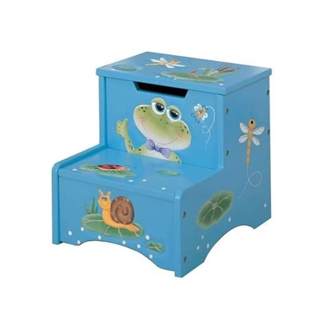Teamson Step Stool by Fields Carved Froggy Step Stool With Storage