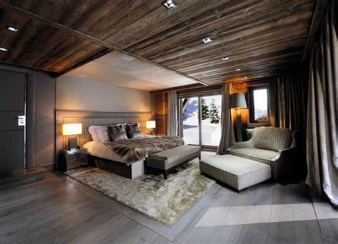 rustic ski lodge lodge interior design khiryco elegant log 25 cozy and welcoming chalet bedrooms ideas
