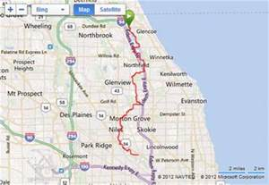 Chicago Bike Trail Map by The North Branch Trail Chicago To Glencoe Gps Map And