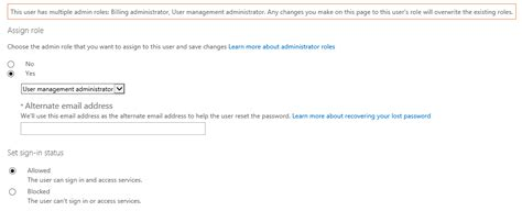 Office 365 Portal Administrator Roles Assigning Administrative Roles To A User In